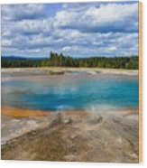 Turquoise Pool, Yellowstone Wood Print