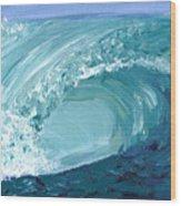 Turquoise Room Wood Print