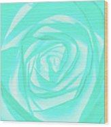 Turquoise Rose Wood Print