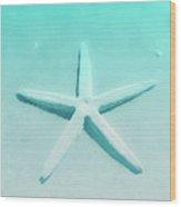 Turquoise Starfish 1 Wood Print