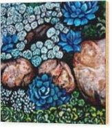 Turquoise Stone Wood Print