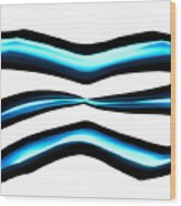 Turquoise Teal Abstract Lines Wood Print