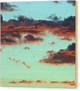Turquoise Trail Wood Print