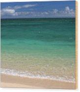 Turquoise Water Of Kanaha Beach Maui Hawaii Wood Print