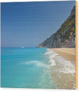 Turquoise Water Paradise Beach Wood Print
