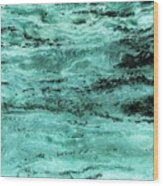 Turquoise Water Wood Print