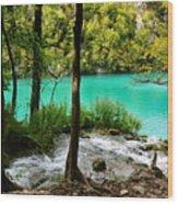 Turquoise Waters Of Milanovac Lake Wood Print