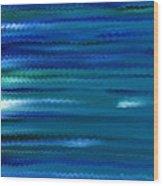 Turquoise Waves Wood Print