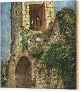 Turret At Wallingford Castle Wood Print