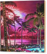 Turtle Bay - Independence Day Wood Print