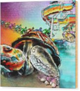 Turtle Slide Wood Print