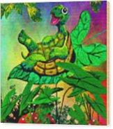 Turtle-totter Wood Print