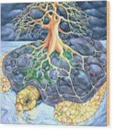 Turtle Tree Mandala Wood Print