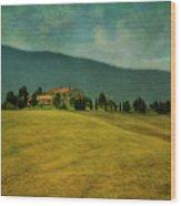 Tusacany Hills Wood Print
