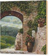 Tuscan Arch Wood Print