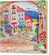 Tuscan Archway II Wood Print
