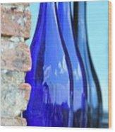 Tuscan Blue Reflections Wood Print