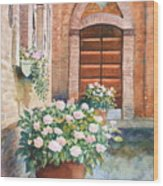 Tuscan Courtyard Wood Print