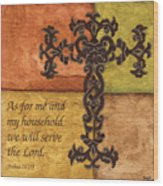 Tuscan Cross Wood Print by Debbie DeWitt
