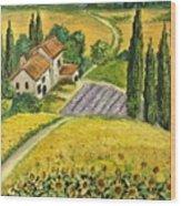 Tuscan Italy Wood Print