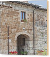 Tuscan Old Stone Building Wood Print