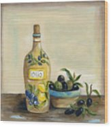 Tuscan Olive Oil  Wood Print
