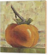 Tuscan Persimmon Wood Print by Pam Talley