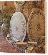 Tuscan Pottery Wood Print