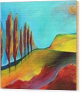 Tuscan Sentinels Wood Print