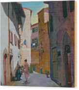 Tuscan Street Wood Print