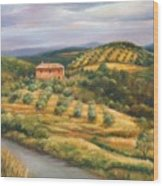 Tuscan Summer Wood Print