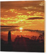 Tuscan Sunset Wood Print