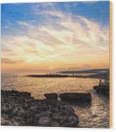 Tuscan Sunset On The Sea In Italy Wood Print