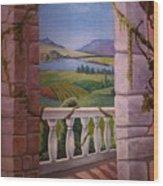 Tuscan Terrace  Wood Print