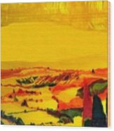 Tuscan View In Resin Wood Print by Jason Charles Allen
