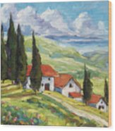 Tuscan Villas Wood Print