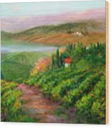 Tuscan Vista Wood Print