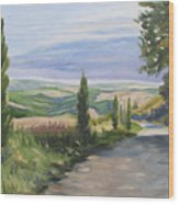 Tuscan Walk Wood Print