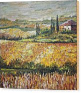 Tuscan Wheat Wood Print
