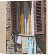 Tuscan Window And Laundry Wood Print