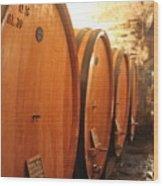 Tuscan Wine Cellar Wood Print