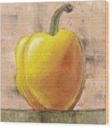 Tuscan Yellow Pepper Wood Print