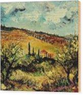 Tuscany 67 Wood Print