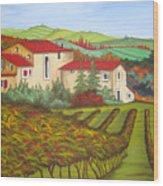 Tuscany Wood Print by Amanda Schambon