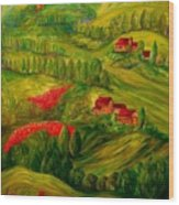 Tuscany At Dawn Wood Print by Eloise Schneider