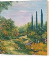 Tuscany Atmosphere Wood Print by Hannibal Mane