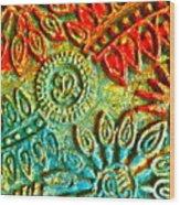 Tuscany Batik Wood Print
