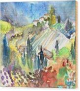 Tuscany Landscape 03 Wood Print