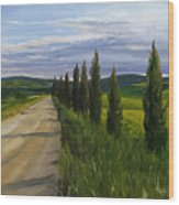 Tuscany Road Wood Print by Jay Johnson