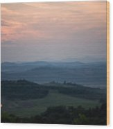 Tuscany Sunset 2 Wood Print
